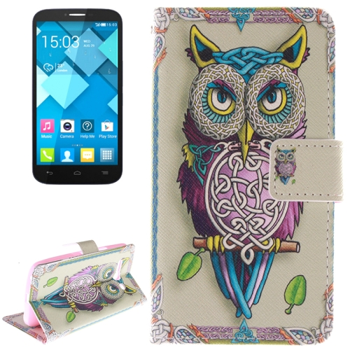 Buy Owl Pattern Leather Case with Holder & Card Slot & Wallet for Alcatel One Touch Pop C9 for $2.58 in SUNSKY store