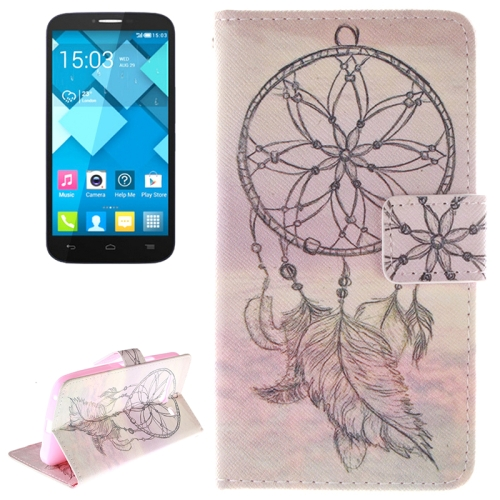Buy National Style Cap Pattern Leather Case with Holder & Card Slot & Wallet for Alcatel One Touch Pop C9 for $2.58 in SUNSKY store