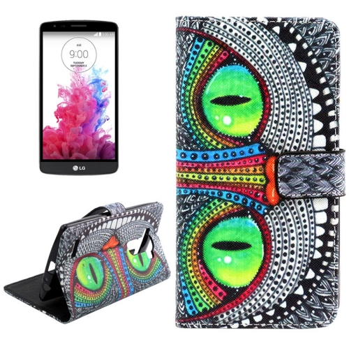 Buy Eyes of Owl Pattern Cross Texture Leather Case with Holder & Card Slots & Wallet for LG G4 for $2.09 in SUNSKY store