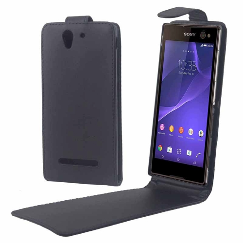Buy Vertical Flip Magnetic Button Leather Case for Sony Xperia C3 / D2533 for $1.57 in SUNSKY store