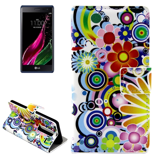 Buy Colorful Flowers Patterns Horizontal Flip Leather Case with Card Slots and Holder for LG Class / LG Zero for $2.44 in SUNSKY store