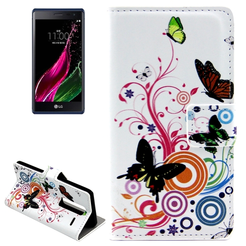 Buy Butterflies Love Flowers Patterns Horizontal Flip Leather Case with Card Slots and Holder for LG Class / LG Zero for $2.44 in SUNSKY store