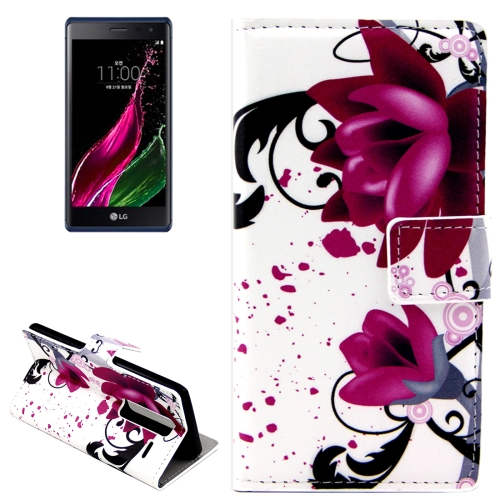 Rose Flowers Patterns Horizontal Flip Leather Case with Card Slots and Holder for LG Class / LG Zero