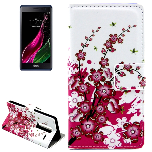 Buy Peach Blossom Patterns Horizontal Flip Leather Case with Card Slots and Holder for LG Class / LG Zero for $2.44 in SUNSKY store