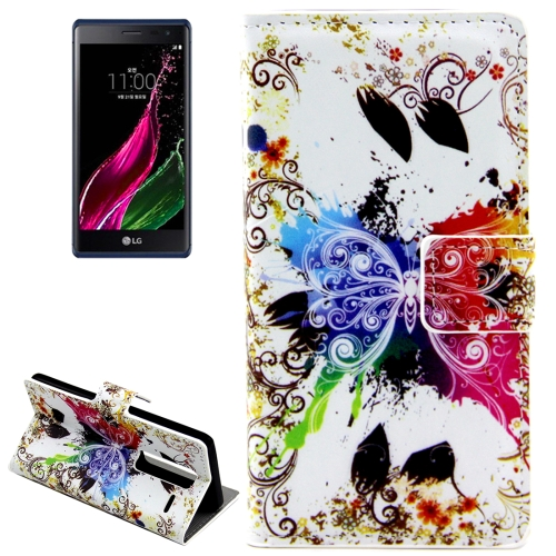 Buy Crystal Butterfly Patterns Horizontal Flip Leather Case with Card Slots and Holder for LG Class / LG Zero for $2.44 in SUNSKY store