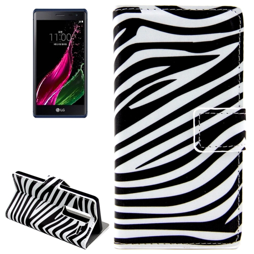 Buy Zebra Patterns Horizontal Flip Leather Case with Card Slots and Holder for LG Class / LG Zero for $2.44 in SUNSKY store