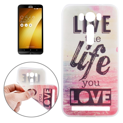 Buy Ultrathin Words Hang Over the Sea Pattern Soft TPU Protective Cover Case for Asus Zenfone 2 Laser / ZE500KL 5.0inch for $1.16 in SUNSKY store