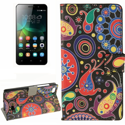 Buy Colorful Acaleph Pattern Horizontal Flip Leather Case with Card Slots & Wallet & Holder for Huawei Honor 4C for $2.29 in SUNSKY store