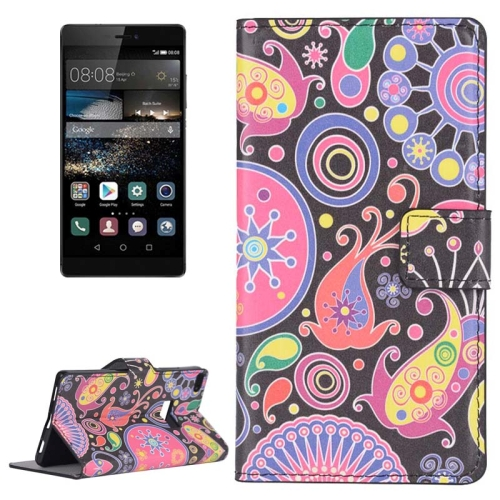 Buy Colorful Acaleph Pattern Flip Leather Case with Holder & Card Slots for Huawei P8 for $2.44 in SUNSKY store