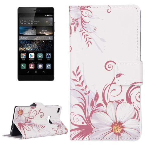 Buy Flower Pattern Flip Leather Case with Holder & Card Slots for Huawei P8 for $2.44 in SUNSKY store