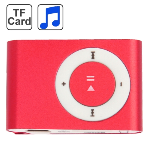 TF (Micro SD) Card Slot MP3 Player with Metal Clip(Red) фото