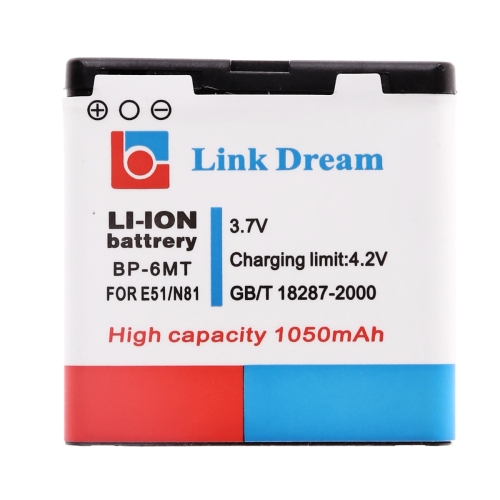 Buy Link Dream High Quality 1050mAh Replacement Battery for Nokia E51 N81 8GB N82 (BP-6MT) for $2.37 in SUNSKY store