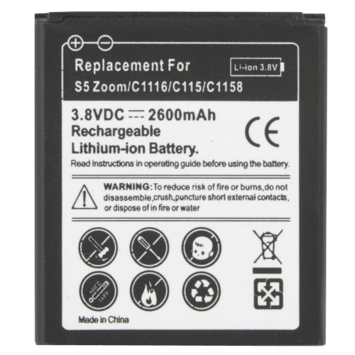Buy 2600mAh Replacement Mobile Phone Battery for Samsung Galaxy S5 Zoom / C1116 / C115 / C1158 for $2.37 in SUNSKY store