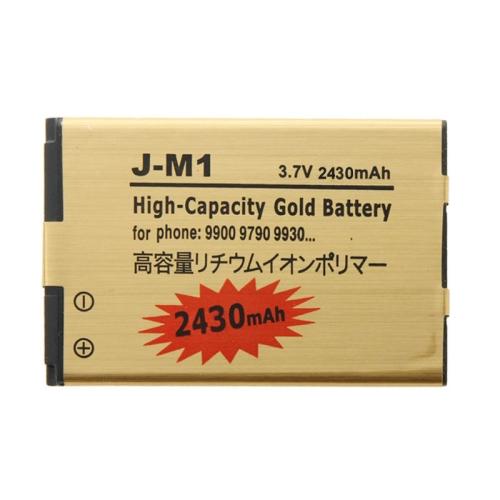 Buy 2430mAh High Capacity Gold Li-ion Mobile Phone Battery for BlackBerry J-M1 /9900 / 9790 / 9930 for $3.33 in SUNSKY store