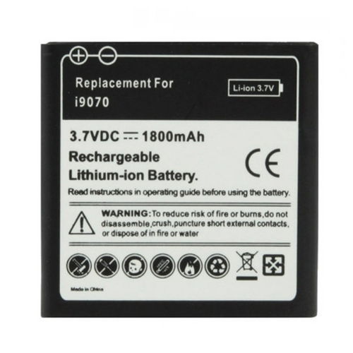 Buy 1800mAh Replacement Battery for Samsung Galaxy S / i9070 Advance for $2.37 in SUNSKY store