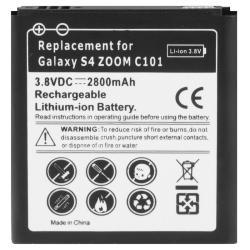 2800mAh Business Replacement Battery for Samsung Galaxy S IV Zoom / C1010
