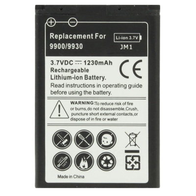 Buy 1230mAh J-M1 Replacement Battery for Blackberry Bold 9900 / 9930 / 9790 for $3.01 in SUNSKY store