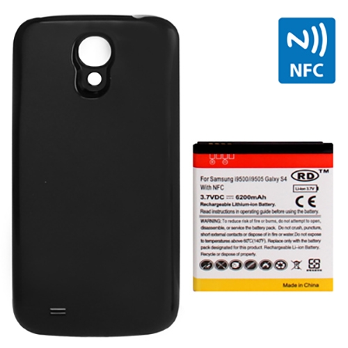 Buy 6200mAh Replacement Mobile Phone Battery with NFC & Cover Back Door for Samsung Galaxy S IV / i9500, Black for $8.53 in SUNSKY store