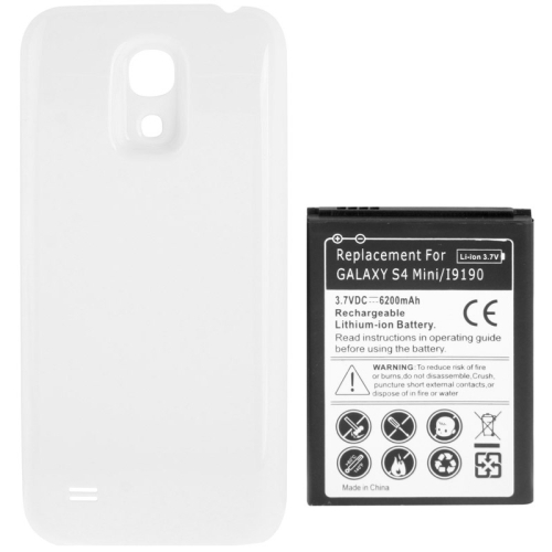 Buy 6200mAh Replacement Mobile Phone Battery & Cover Back Door for Samsung Galaxy S IV mini / i9190, White for $5.65 in SUNSKY store