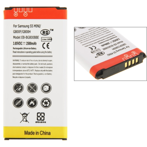 Buy 2500mAh High Capacity Li-ion Battery for Samsung Galaxy S5 mini / G800F / G800H for $4.46 in SUNSKY store
