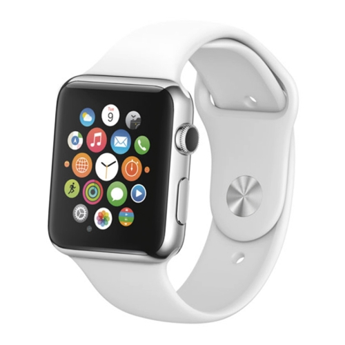 High Quality Color Screen Non-Working Fake Dummy, Metal Material Display Model for Apple Watch 38mm(White) professional deep search metal detector goldfinder underground gold high sensitivity and lcd display metal detector finder