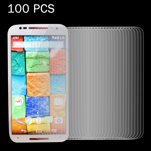 Buy 100 PCS for Motorola Moto X (2nd Gen.) 0.26mm 9H Surface Hardness 2.5D Explosion-proof Tempered Glass Screen Film for $29.79 in SUNSKY store