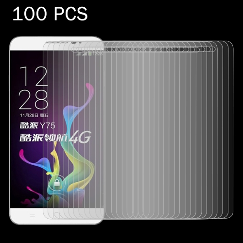 Buy 100 PCS Coolpad Y75 / Y76 0.26mm 9H Surface Hardness 2.5D Explosion-proof Tempered Glass Screen Film for $31.94 in SUNSKY store