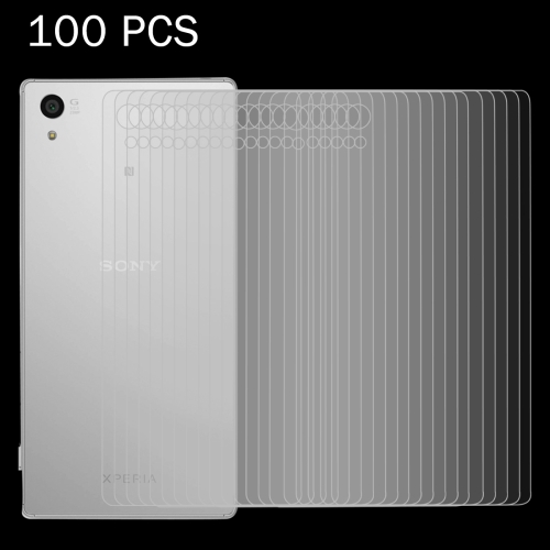 Buy 100 PCS for Sony Xperia Z5 Premium / Plus 0.26mm 9H Surface Hardness 2.5D Explosion-proof Back Tempered Glass Film for $28.81 in SUNSKY store