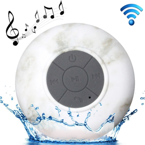 Buy Marble Pattern Mini Waterproof Bluetooth Speaker with Suction Cup for iPad / iPhone / Other Bluetooth Mobile Phone, Support Handfree Function, Splash-proof Level: IPX4, BTS-06 for $9.73 in SUNSKY store