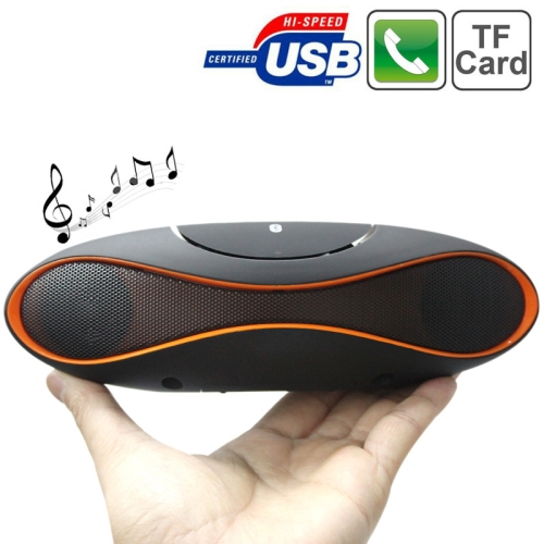Buy BTK1015 Rugby Mini Wireless Hands-free Subwoofer Speaker Portable Bluetooth Speaker for iPad / iPhone / Other Bluetooth Mobile Phone, Support TF / AUX / USB / FM Radio, Orange for $11.34 in SUNSKY store