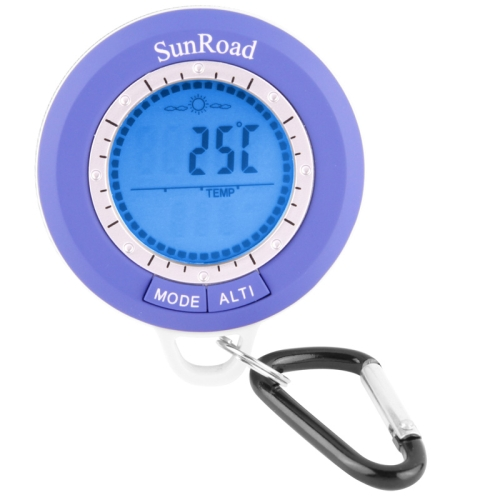 Buy SUNROAD 8 in 1 (Altimeter, Altitude Record / Setting, Barometer, Digital Compass, Thermometer, Weather forecast, Time, Backlight) Multifunction Digital Altimeter Watch Compass for $15.70 in SUNSKY store