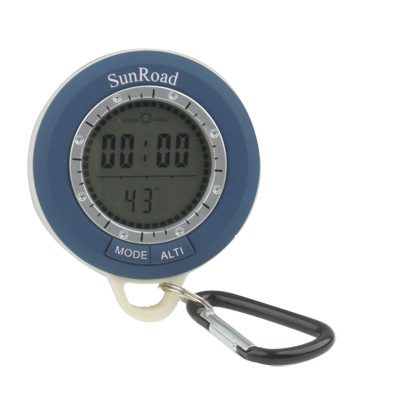 Buy 8 in 1 (Altimeter / Altitude Record / Altitude Setting / Barometer / Digital Compass / Thermometer / Weather forecast / Time) Multifunction Digital Altimeter, Blue for $16.71 in SUNSKY store