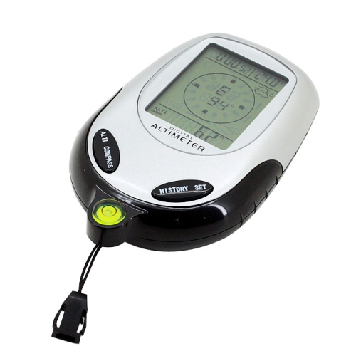 6 In 1 Multifunction Digital Altimeter with Compass & Barometer & Thermometer & Weather Forecast and Clock