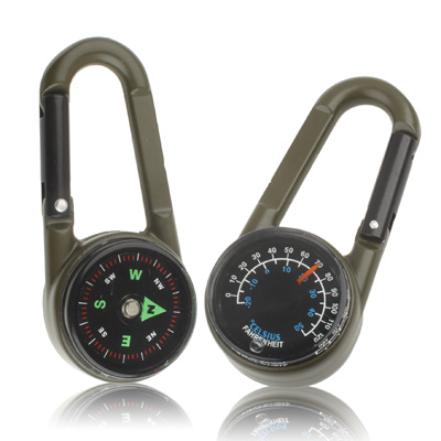 Buy Carabiner Key Compass & Thermometer Hiking Outdoor Travel for $1.11 in SUNSKY store