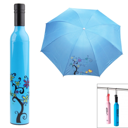 Buy Creative Three Folding Bottle Shape Umbrella, Blue for $2.66 in SUNSKY store