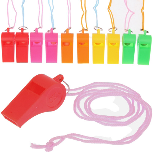 Professional ABS Plastic Referee Whistle with Lanyard (20pcs in one packaging, the price is for 20pcs)