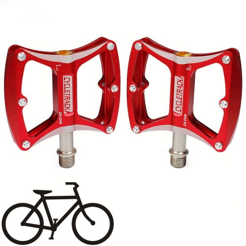 Buy New Bike MTB Magnesium Alloy Platform Flat Pedals CNC Chrome Steel Axle, CK-018, Red for $24.17 in SUNSKY store