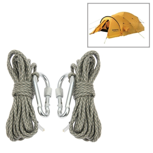 Buy 2 PCS Durable Seven-core Alloy Carabiner Tent Rope Umbrella Rope with Carabiner, Length: 4m, Camouflage Color for $2.97 in SUNSKY store