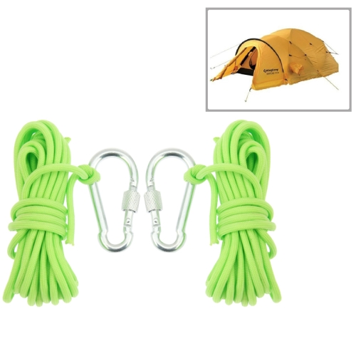 Buy 2 PCS Durable Seven-core Alloy Carabiner Fluorescent Tent Rope Umbrella Rope with Carabiner, Length: 4m for $2.97 in SUNSKY store