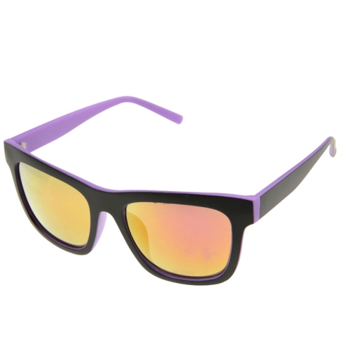 Buy UV400 Protection Stylish Double-color Frame Sunglasses for Outdoor Sports, Purple for $2.44 in SUNSKY store