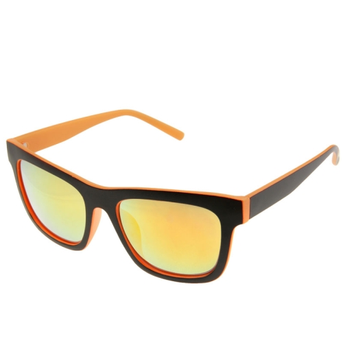 Buy UV400 Protection Stylish Double-color Frame Sunglasses for Outdoor Sports, Orange for $2.44 in SUNSKY store
