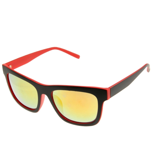 Buy UV400 Protection Stylish Double-color Frame Sunglasses for Outdoor Sports, Red for $2.44 in SUNSKY store