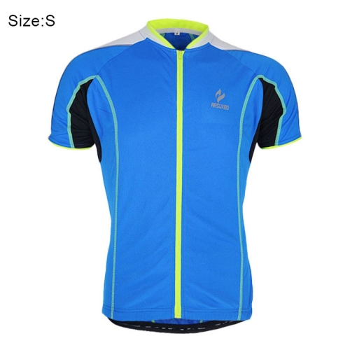 ARSUXEO 668 Male Outdoor Cycling Running Clothes Full-zipper Short Sleeve  Biking Racing Jersey Sweatshirt 6f69f1d90