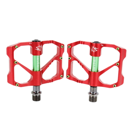 Buy 1 Pair Aluminum Alloy Pedals Platform CNC Steel Axle 9/16 inch for Bike MTB BMX, Red for $17.90 in SUNSKY store