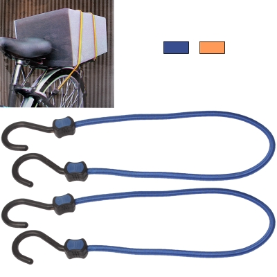 Buy Pair of Plastic Hook Elastic Strap 50cm Motorcycle Bicycle Luggage Cord Rope (Random Color Delivery) for $2.48 in SUNSKY store