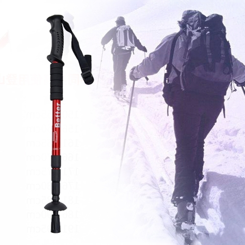 Folding Adjustable Crutch / Walking Stick with Compass, Height: 0.5-1.1m (Random Color Delivery)