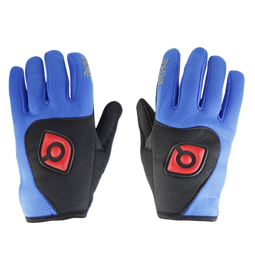 Buy Qepae Cycling Bicycle / Motorcycle Monster Outdoor Sports Nylon Gloves, Size: XL, Blue for $4.45 in SUNSKY store