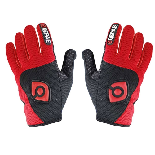 Buy Qepae Cycling Bicycle / Motorcycle Monster Outdoor Sports Nylon Gloves, Size: XL, Red for $4.45 in SUNSKY store