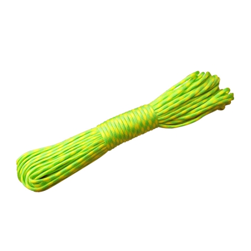 Buy 100m 7 Core Durable Army Paratroopers Rope Rescue Survival Tent Rope, Yellow for $4.53 in SUNSKY store