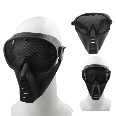 Buy Plastic Tactical Full Face Guard Mask with Mesh Goggles for Outdoor Survival Airsoft Paintball Games for $2.15 in SUNSKY store